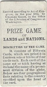 The Prize Game of Lands and Nations