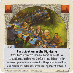 The Rivals for Catan: Participation in the Big Game