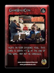 The Three Pillars: GameHoleCon Promo Card