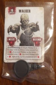 The Walking Dead: All Out War – Walker Mini and Card
