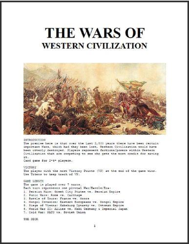 The Wars of Western Civilization