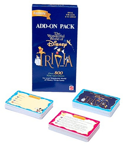The Wonderful World of Disney Trivia Game Add-on Pack