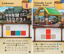 Tiny Towns: FLGS and Larkstone Promo Cards
