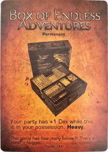 Too Many Bones: Box of Endless Adventures Promo Card
