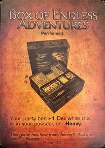 Too Many Bones: Box of Endless Adventures Promo Card