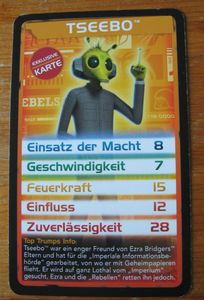 Top Trumps Star Wars: Tseebo Promo Card