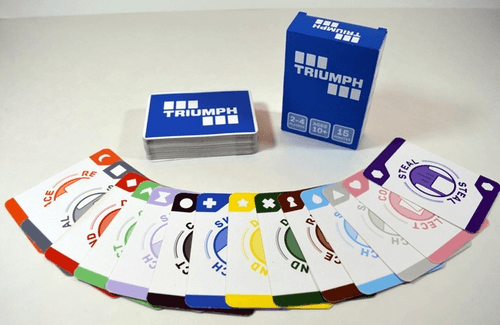 TRIUMPH: A card-arranging strategy game