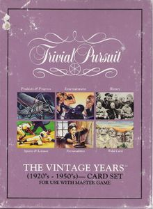 Trivial Pursuit: The Vintage Years Edition (1920's – 1950's) – Card Set