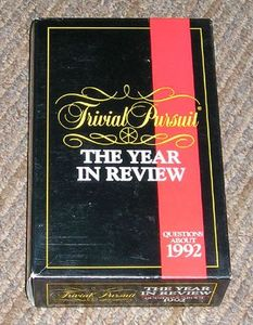Trivial Pursuit: The Year in Review – Questions about 1992