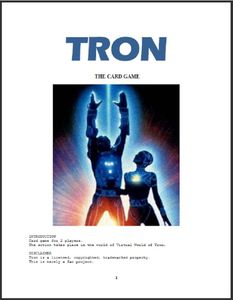 Tron, The Card Game