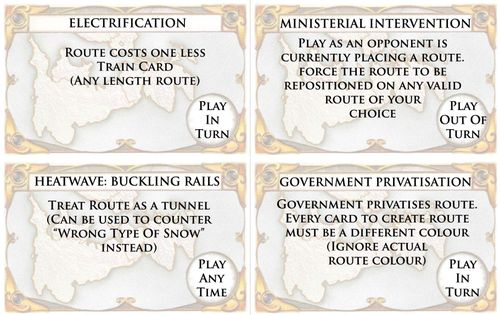 UK Cynical Edition (fan expansion for Ticket to Ride)