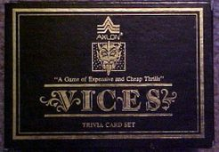 Vices Trivia Card Set