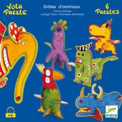 Volu Puzzle: Drôles D'Animaux – Funny Animals