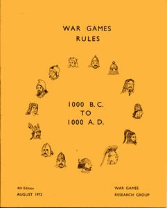 War Games Rules 1000 BC to 1000 AD