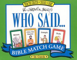 Who Said... Bible Match Game