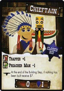 Wild Fun West: Chieftain promo card