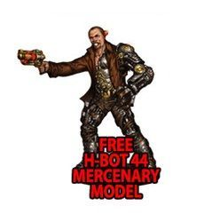 Wild West Exodus: H-BOT 44 Mercenary miniature