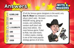 Wits & Wagers: Alan R. Moon Personality Card Promo