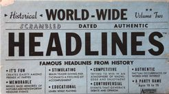 World-Wide Headlines: Volume Two – Historical Events