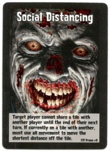Zombies!!!: Social Distancing Promo Card