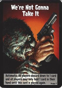 Zombies!!!: We're Not Gonna Take It Promo Card